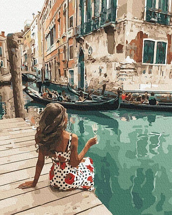 BK-GX35680 Картина для рисования по номерам Загадочная итальянка, Без коробки, фото 2