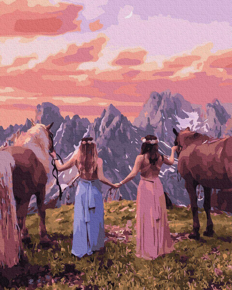 BK-GX35794 Картина для рисования по номерам На вершине горы, Без коробки