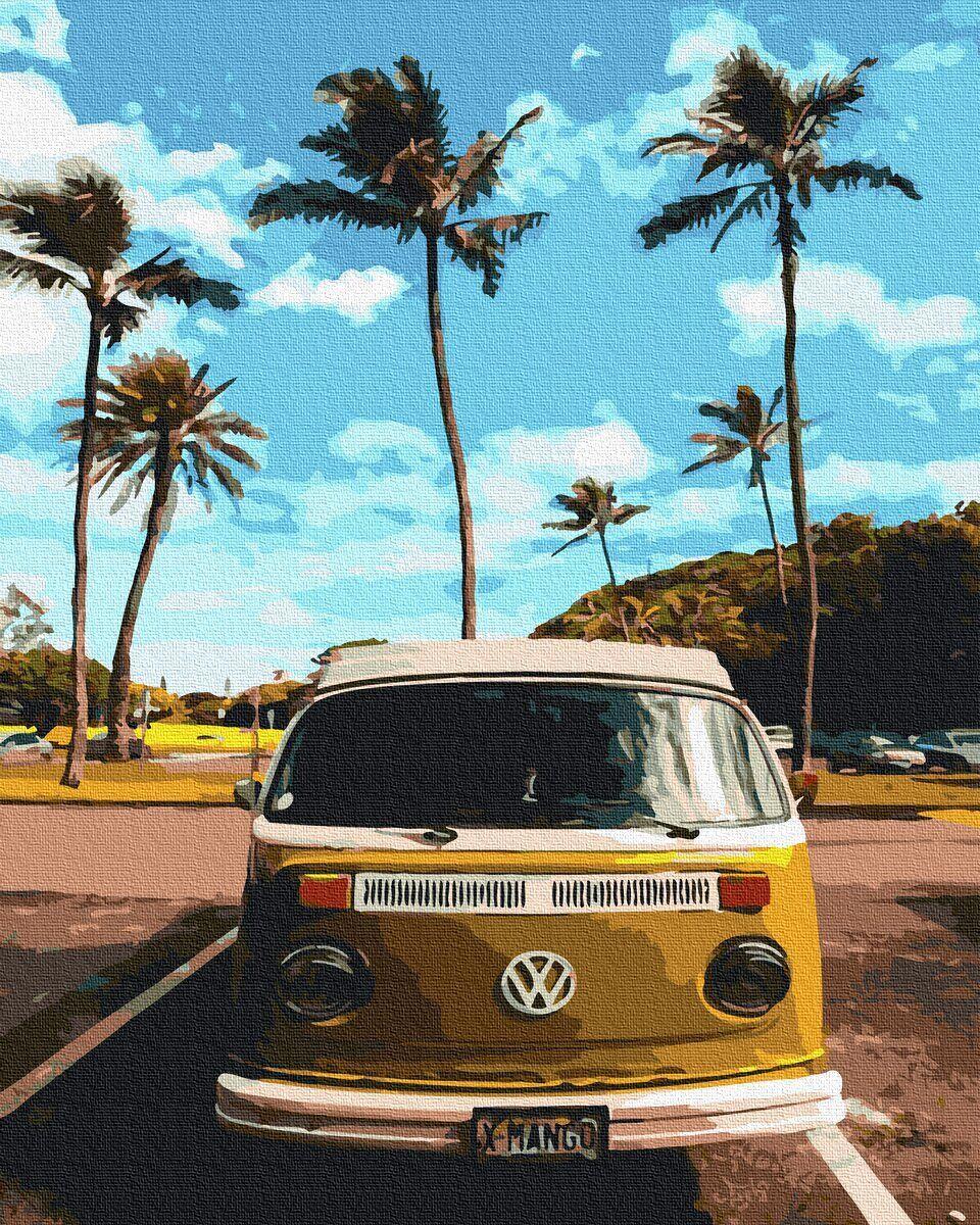 BK-GX36052 Картина для рисования по номерам Транспорт хиппи, Без коробки