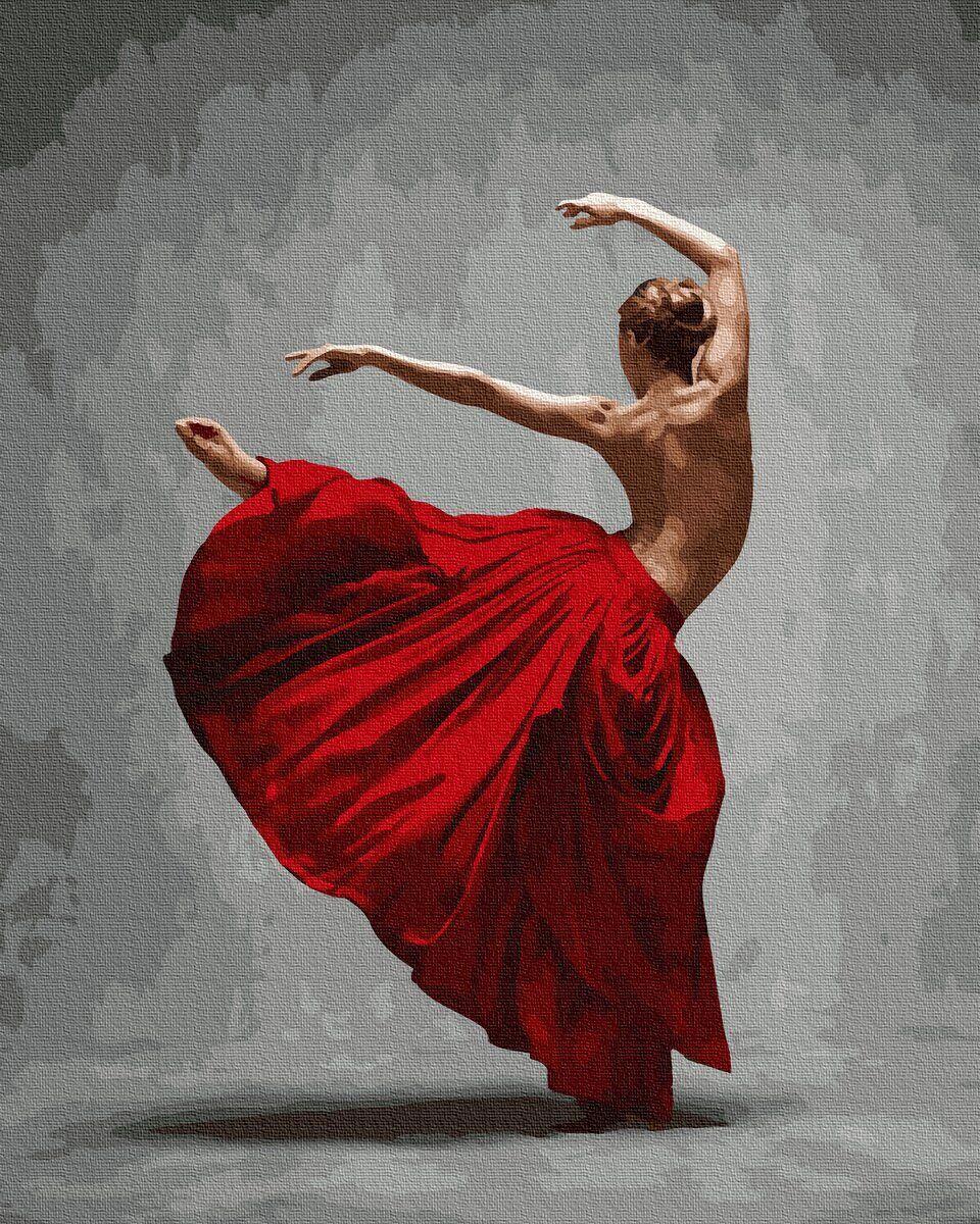 BK-GX36055 Картина для рисования по номерам Грация танца, Без коробки