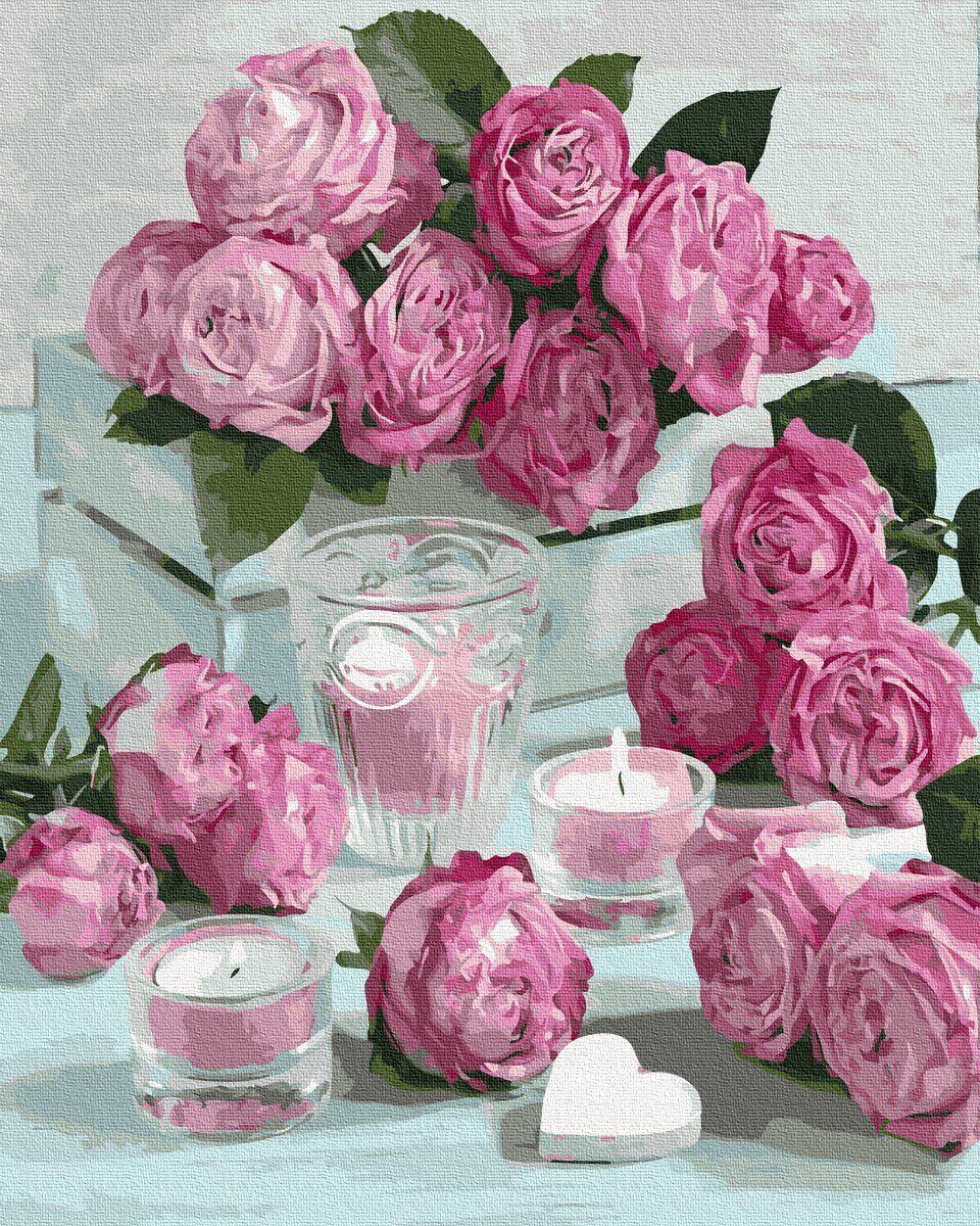 BK-GX36024 Картина для рисования по номерам Романтика роз, Без коробки