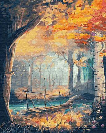 BK-GX36034 Картина для рисования по номерам Осенний лес, Без коробки, фото 2