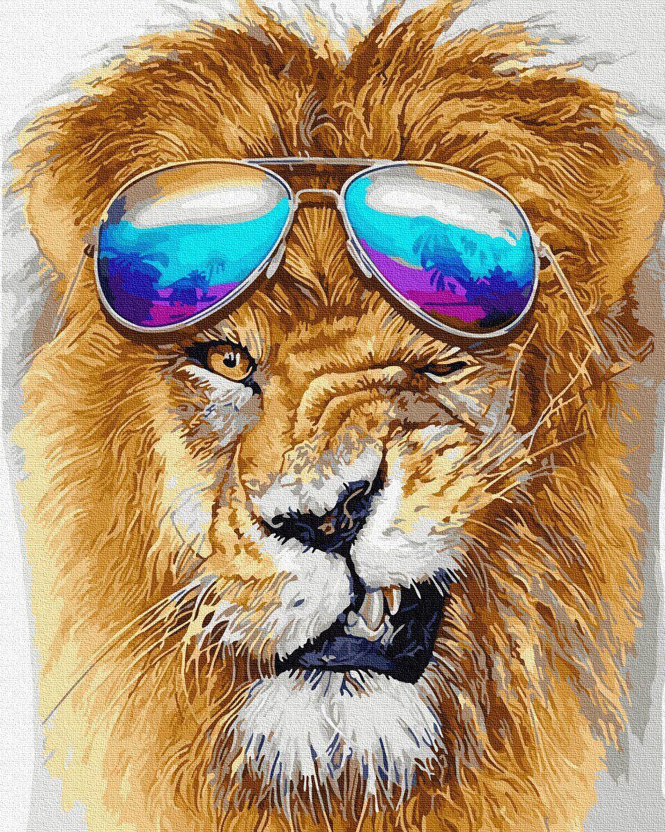 BK-GX28170 Картина для рисования по номерам Модный лев, Без коробки