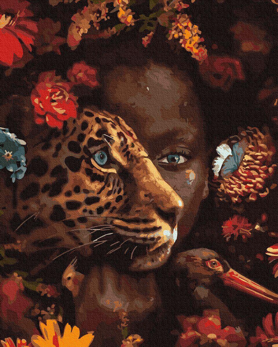 BK-GX33399 Картина для рисования по номерам Мир джунглей, Без коробки