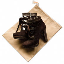 Мешок-пыльник для обуви с затяжкой Organize бежевый HO-01 SKL34-176335