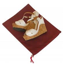 Мешок-пыльник для обуви с затяжкой Organize винный HO-01 SKL34-176336