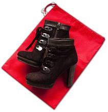 Мешок-пыльник для обуви с затяжкой Organize красный HO-01 SKL34-176337