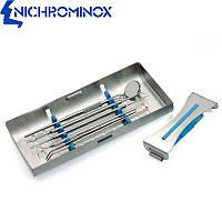 Кассета для стоматологического инструмента Ergo Clip 5, синий силикон, Nichrominox