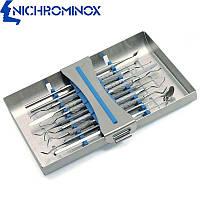 Кассета для стоматологического инструмента Ergo Clip 10, синий силикон, Nichrominox