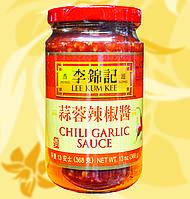 Соус чили и чеснок(чили гарлик), chili garlic, Lee Kum Kee, 368 гр, ДжЧЗ