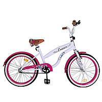 Детский городской велосипед ДВУХКОЛЕСНЫЙ CRUISER 20 -дюймов T-22034 PINK