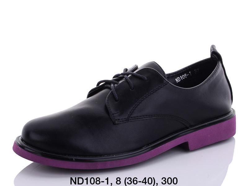 Туфли женские черные Teetspace-Trasta-Egga-ND108-1