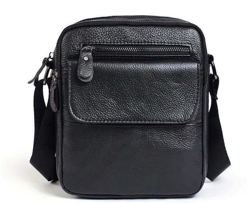 Сумка мужская зернистая Vintage 14704 Черная