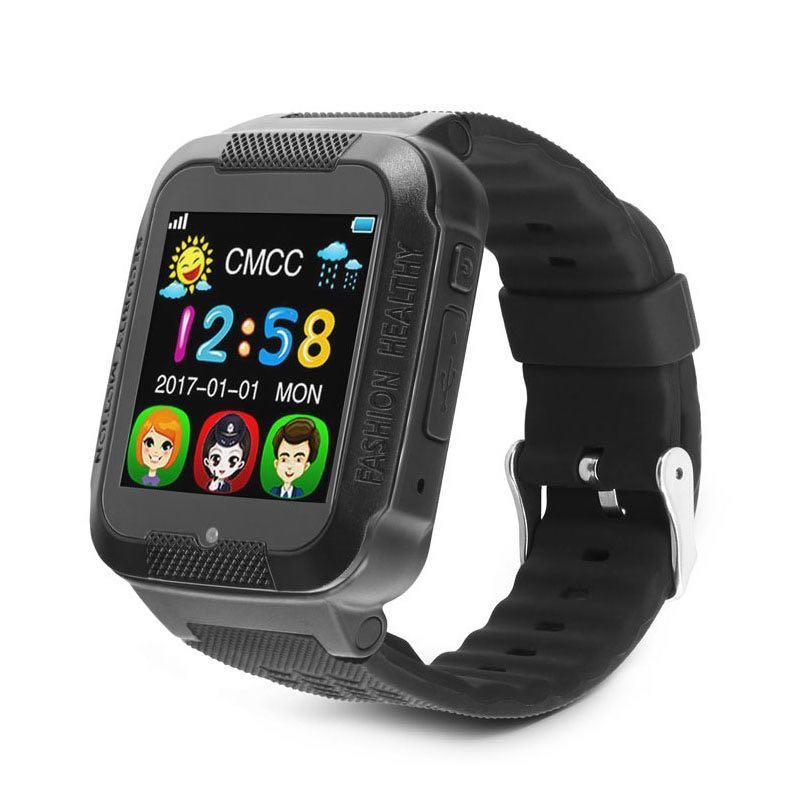 Детские умные влагозащищенные смарт-часы с GPS/камерой K3 шагомер будильник Black (SW004K3BL)