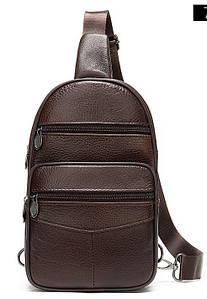 Сумка мужская через плечо Vintage 14986 Коричневая