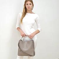 Женская сумка бежевая большого размера повседневная натуральная кожа, фото 1