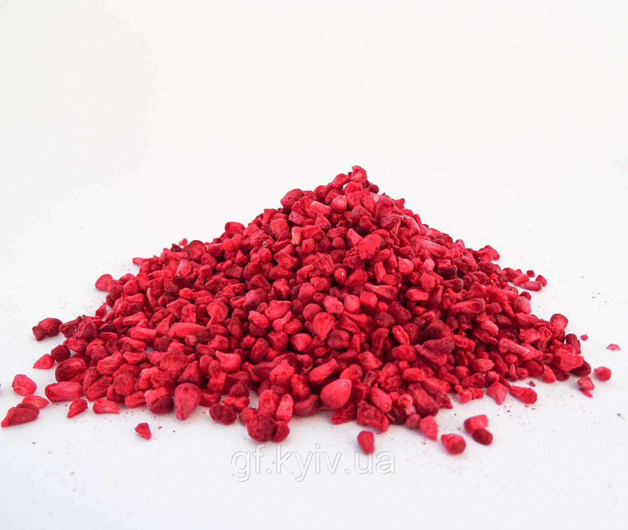 Малина зерна 100г сублимированная натуральные кусочки ягоды от украинского производителя