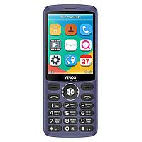 Кнопочный телефон с большим экраном Verico Style S283 синий