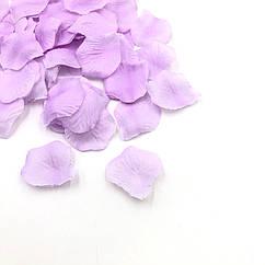 Штучні пелюстки троянд бузкові