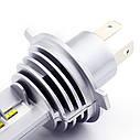 Лампа автомобильная светодиодная Carro LED Model MZ H4 8000 Lum 9-32V цвет свечения белый 2 шт/комплект, фото 6