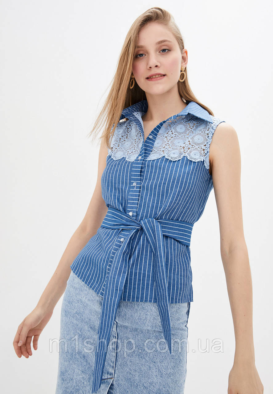 Женская рубашка с кружевом (Лайма lzn)