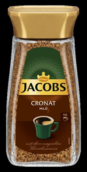 Растворимый кофе Якобз Кронат 200 грамм в стеклянной банке | Чехия