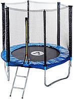 Лучший 183 см батут спортивный игровой с защитной сеткой для детей и взрослых + лестница