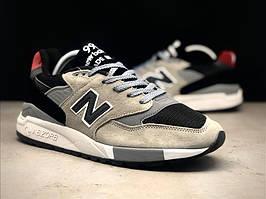 Кроссовки женские New Balance 998 Gray Red Black. Стильные женские кроссовки.