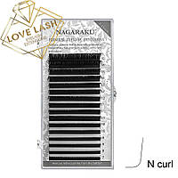 Ресницы Nagaraku Mix N (M) изгиб (Нагараку)
