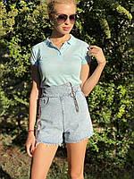 Женские короткие джинсовые шорты. Женская одежда.
