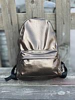 Рюкзак для ноутбука городской средний спортивный из экокожи непромокаемый темно-серый