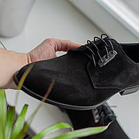 Замшевые туфли Ikos черные