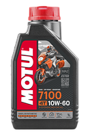 Моторное масло MOTUL 7100 4T 10W60 (1л) для мотоциклов. API SN/SM/SL/SJ/SH/SG; JASO MA2