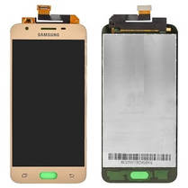 Модуль (дисплей+сенсор) Samsung G570 Galaxy On5 (2016), G570F/DS Galaxy J5 Prime AMOLED золотий, фото 2