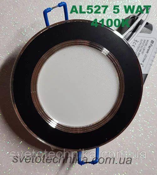 Светодиодная панель Feron AL527 5W 4000K (корпус-черный)