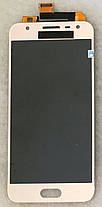 Модуль (дисплей+сенсор) Samsung G570 Galaxy On5 (2016), G570F/DS Galaxy J5 Prime AMOLED золотий, фото 3