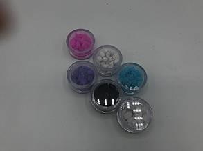 Ладан ароматизированный разных цветов в круглой баночке 5 грамм
