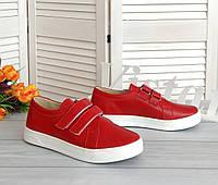 Червоні кеди на липучках від виробника, фото 1