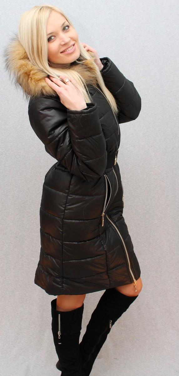 Пальто женское зимнее с капюшоном