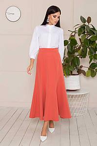 Элегантная женская юбка-годе длиной макси в офисном стиле