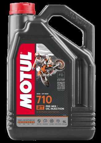 Моторное масло MOTUL 710 2T (4л) для двухтактных мотоциклов. API ТС; JASO FD