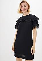 Легкое женское платье с рюшей спереди больших размеров (Калифорния lzn), фото 2