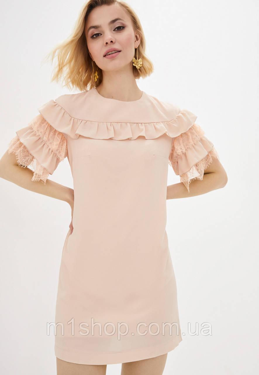 Легкое женское платье с рюшей спереди больших размеров (Калифорния lzn)