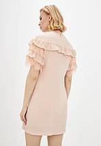 Легкое женское платье с рюшей спереди больших размеров (Калифорния lzn), фото 3