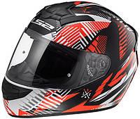 Мотоциклетный шлем Helmets LS2 FF352 ROOKIE r.M INFINITE WHITE BLACK RED