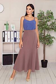 Элегантная женская юбка-годе длинная в офисном стиле