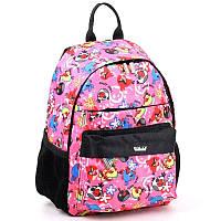 """Рюкзак детский розовый дошкольный в садик девочке Dolly 361 с рисунком """"Angry Birds"""" 26 см х 32 см х 21 см"""