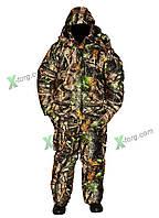 Костюм Зимний Камуфлированный,Теплый костюм для охоты из мембранной ткани Alova (штаны-полукомбинезон)