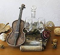 Декантер с бокалами Скрипка