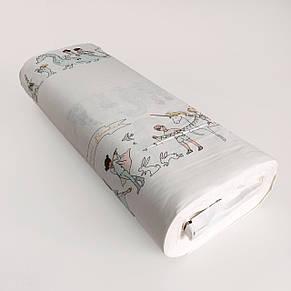 """Турецкая хлопковая ткань ранфорс """"парад на белом"""" 240 см, фото 2"""